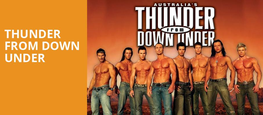 Thunder From Down Under, Fox Theatre, Ledyard